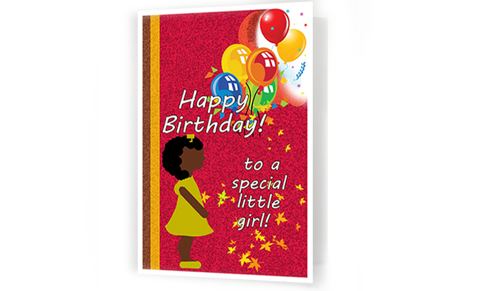 To A Special Little Girl Kids Birthday Card